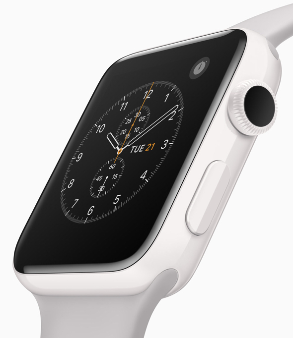 Apple Watch Edition Series 2 in brilliant white ceramic