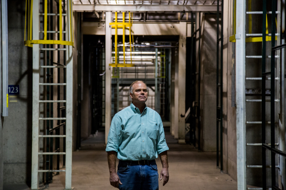 Bruce Armstrong at the soon-to-be reopened facility in Sherman, Texas