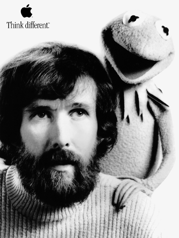 Jim Henson Think Different Poster