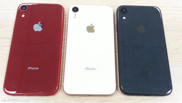 Next-gen iPhones in red, white, and blue (photo: Slashleaks)