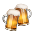 Apple beer toast emoji