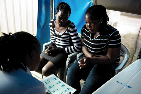 Dotty counsels Helima, who suspects she contracted HIV from her boyfriend.