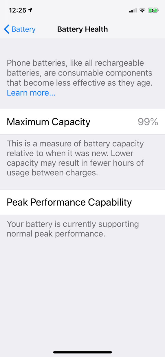 iPhone X Battery Capacity