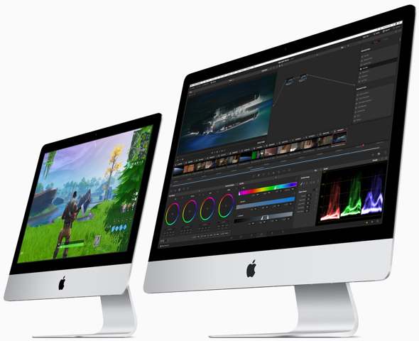 Apple's current 21.5-inch 4K and 27-inch 5K iMac models