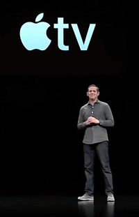 Peter Stern unveils Apple TV+ at the Steve Jobs Theater on March 25, 2019