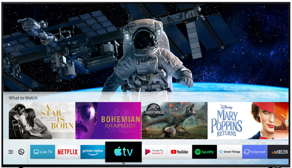 Beginning today, the new Apple TV app and AirPlay 2 are available on all 2019 Samsung Smart TVs and select 2018 models