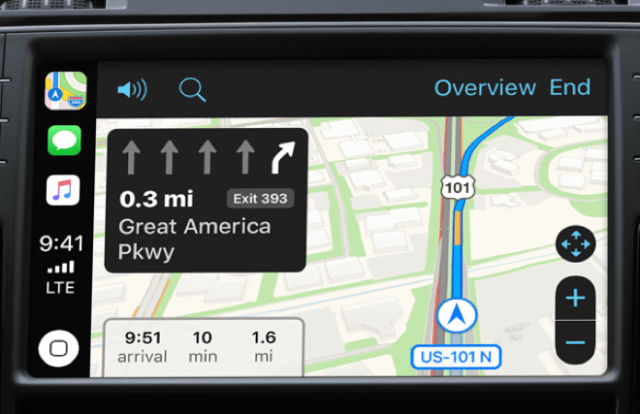 Apple's CarPlay - Maps app
