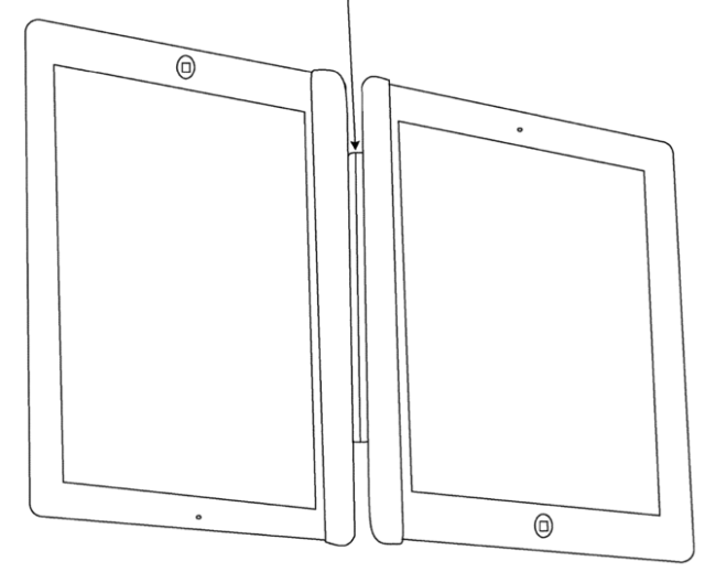 Apple patent application describes linking two iPads together (Source: USPTO)