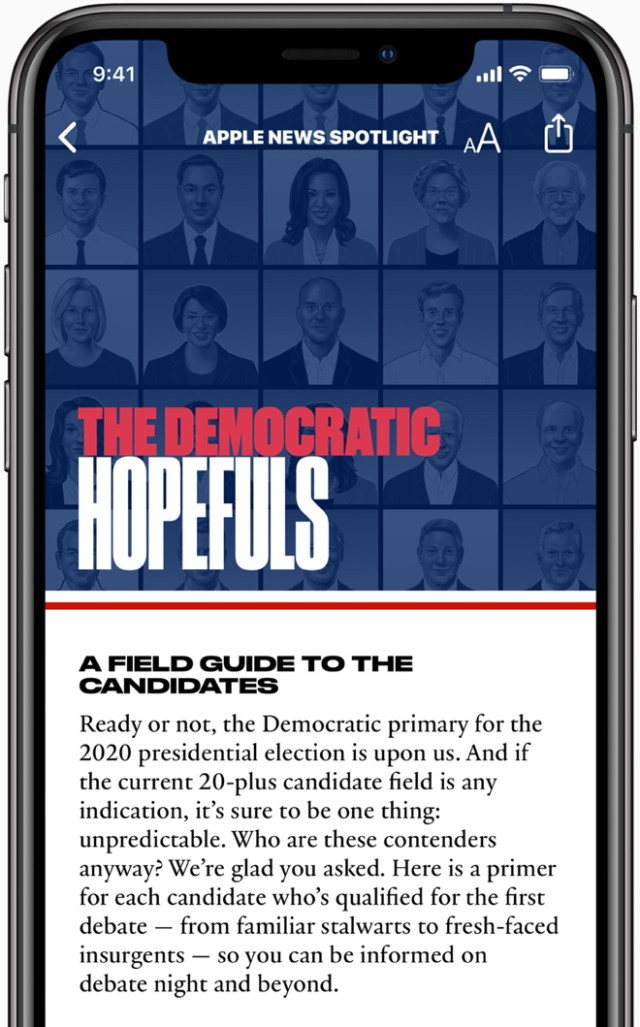 The Apple News candidate guide offers readers trusted information from quality news sources.