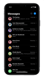 Automatically share your name and photo when you start a new conversation with someone. You can decide whether you want your profile shared with everyone, with only your contacts, or just once.
