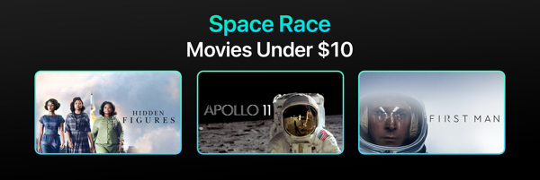 Apple TV Space Race Movies