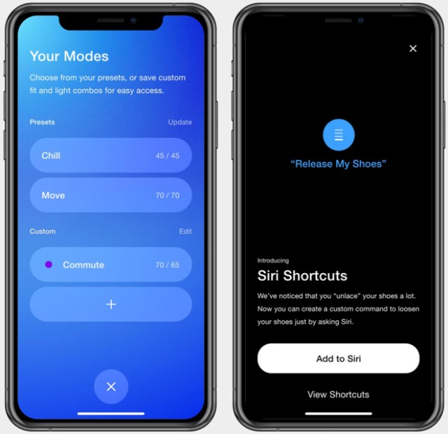 Wearers can choose preset modes or create their own custom fit and light combos. Siri Shortcuts support custom commands for an individual's most used features of the show.