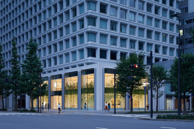 Apple Marunouchi opens Saturday near the Imperial Palace and across from the historic Tokyo Station.