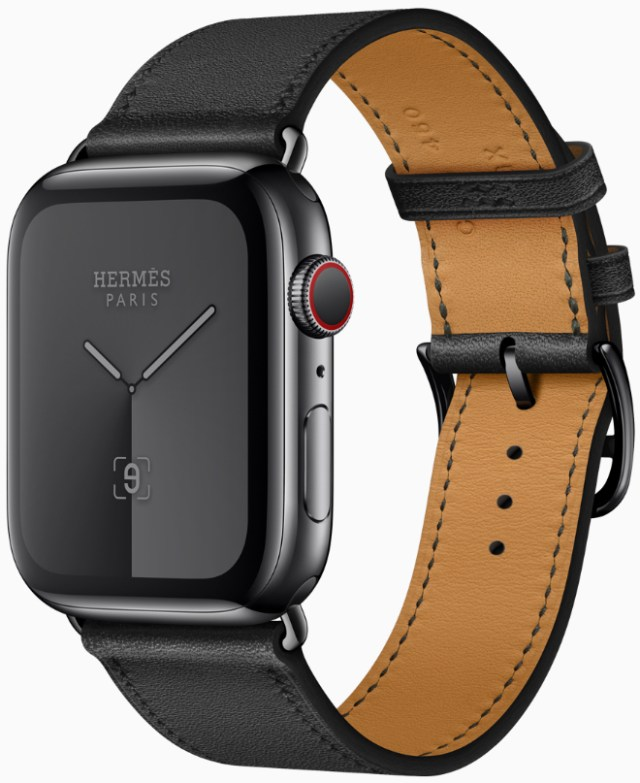 Apple Watch Hermès introduces a color block band with Della Cavalleria print, and an all-black version.