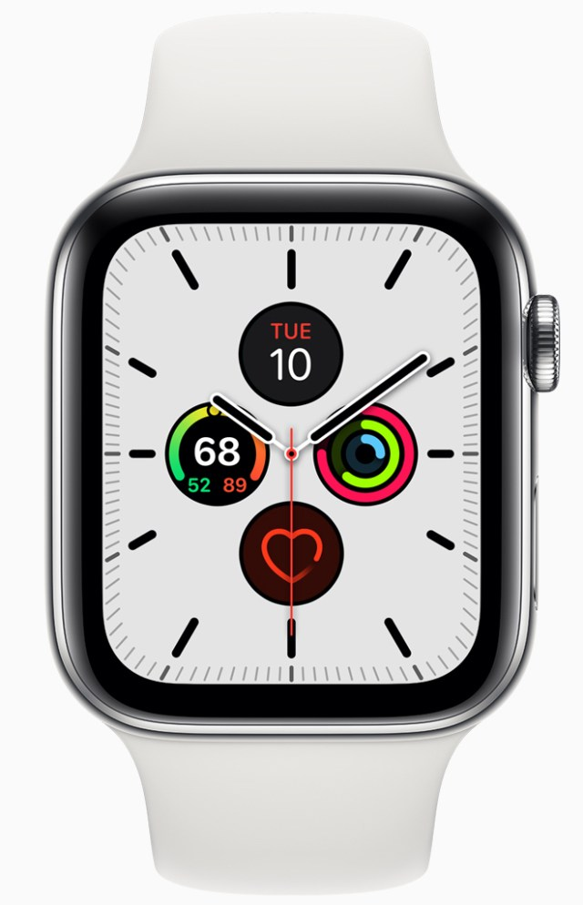 watchOS 6.2 beta 5. Image: watchOS 6's Meridian face