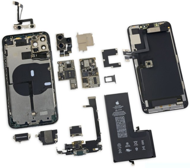 Apple's new 6.5-inch iPhone 11 Pro Max torn down (photo: iFixit)