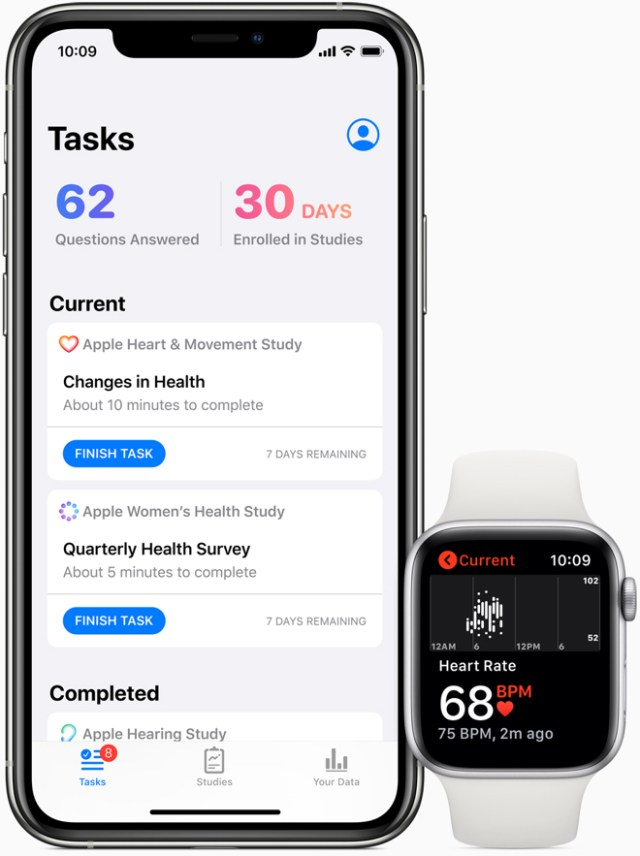 Three studies available in the new Research app will be conducted in partnership with major institutions to explore important areas of medical research.