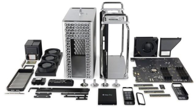 Apple's all-new Mac Pro torn down (photo: iFixit.com)