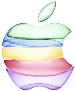 trillion-dollar market cap. Image: Apple logo