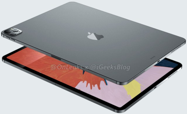 Renders of 2020 iPad Pro 12.9-inch design