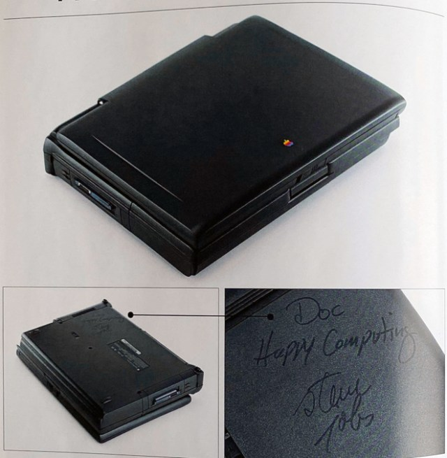 PowerBook 190cs signed by Steve Jobs