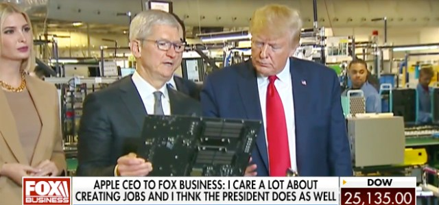 Apple CEO Tim Cook: President Trump and I both care about creating jobs