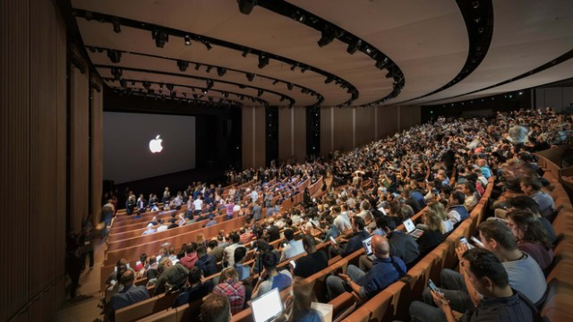 WWDC 2020 cancel. Image: Apple's Steve Jobs Theater at Apple Park in Cupertino, Santa Clara County, California, home of WWDC
