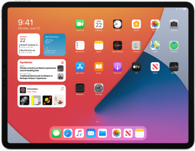 iPadOS 14 introduces new features and designs that make the iPad experience even more distinctive.