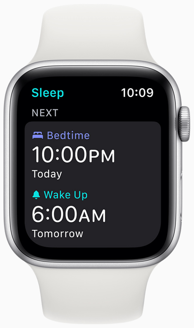 With watchOS 7, Apple Watch users will set sleep-duration goals
