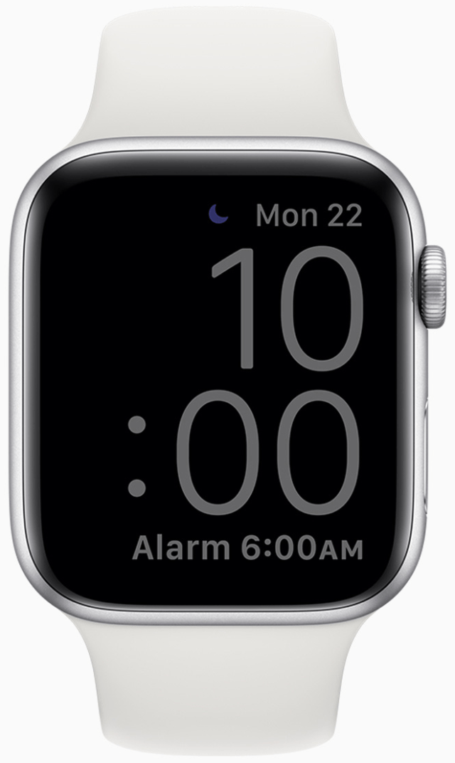 Sleep Mode on Apple Watch dims the screen.