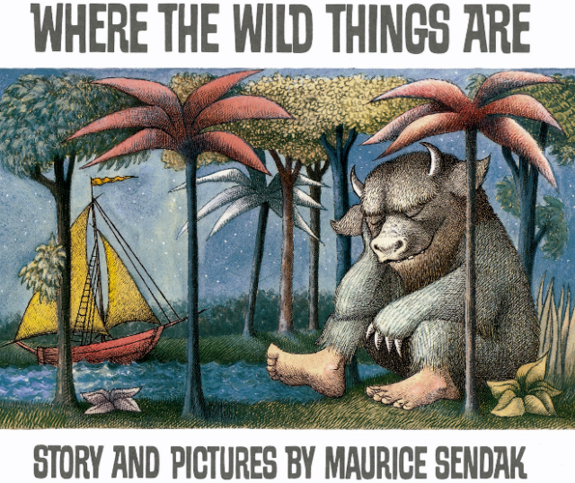 "The cover of ""Where the Wild Things Are"" by Maurice Sendak"