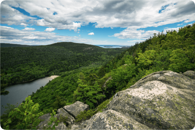 Maine's Acadia National Park's Beech Mountain Cliffs (photo: NPS / Will Greene)