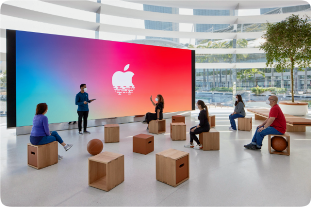 The forum will soon serve as a stage for Singapore's artists, musicians and commercials for today at Apple sessions.