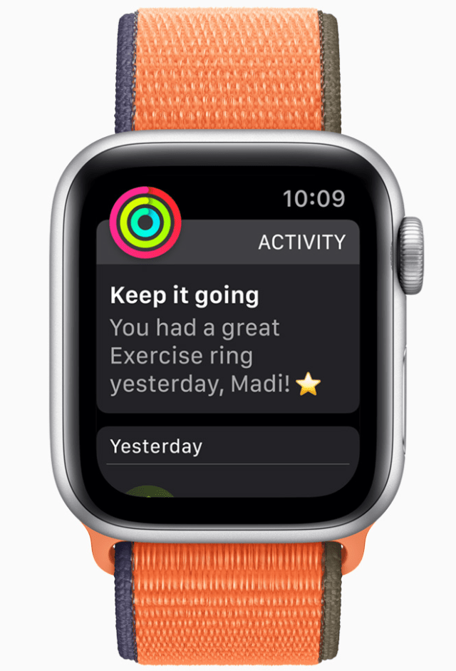 Activity rings have been optimized for kids.