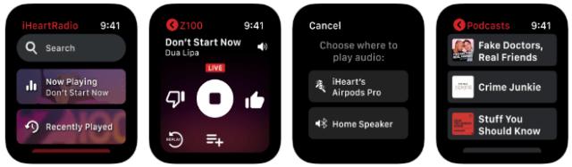 iHeart: Radio, Music, Podcasts app on Apple Watch
