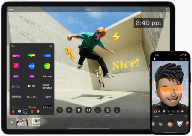 The app now features a fresh, streamlined user interface across iPhone and iPad for faster access to fun effects.