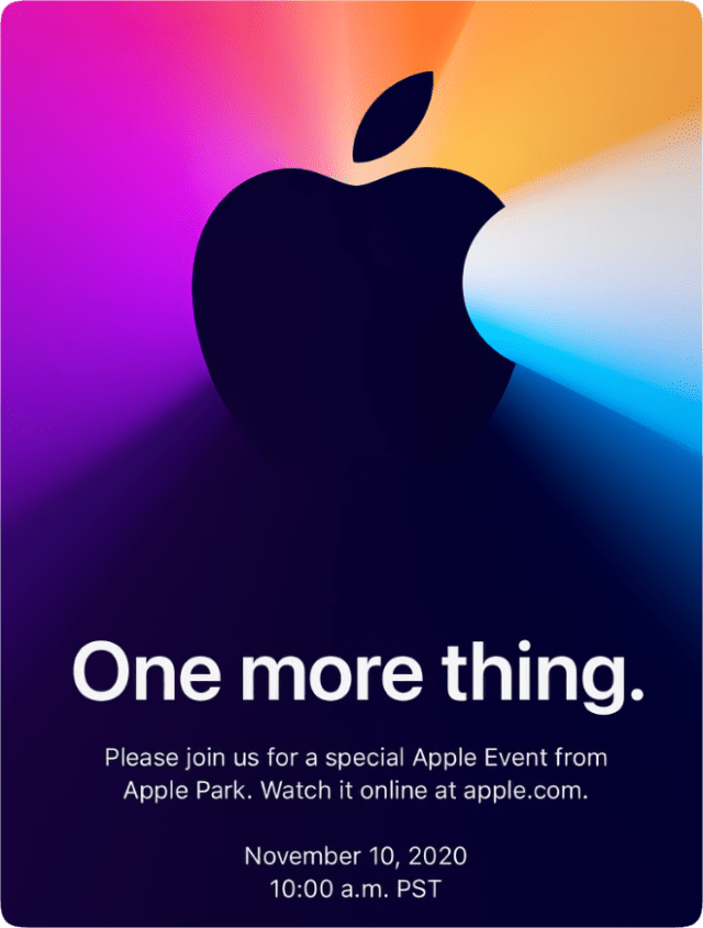 Apple announces 'One more thing' special event on Nov. 10th