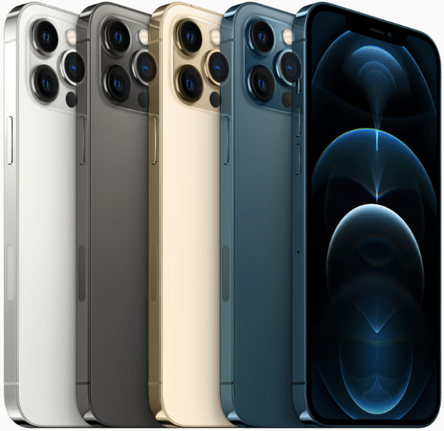 Apple's flagship iPhone 12 Pro Max features the largest display ever on an iPhone, a pro camera system with the new sensor-shift OIS on the Wide camera and longer focal length Telephoto camera, a LiDAR Scanner, A14 Bionic, and much more.