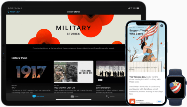 This Veterans Day, Apple is honoring veterans, sharing their stories, and supporting the military community through several programs.