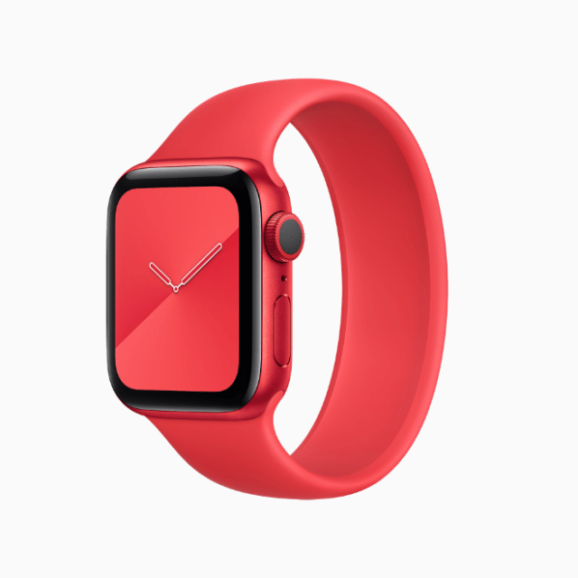 Each purchase of Apple Watch Series 6 (PRODUCT)RED supports the fight against HIV/AIDS.