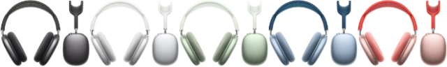 AirPods Max feature a breathable knit mesh canopy, distributing weight to reduce on-head pressure. AirPods Max come in space gray, silver, green, sky blue, and pink.