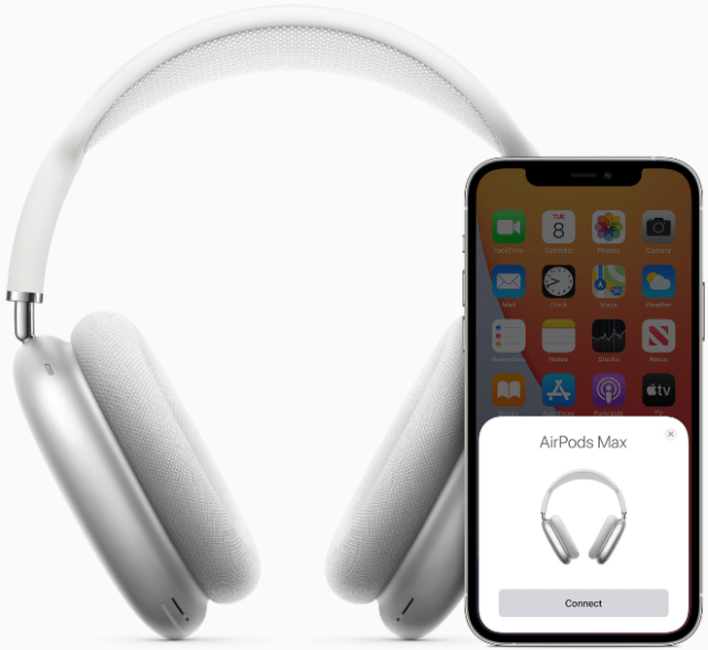 AirPods Max feature the magical one-tap setup experience that customers love with AirPods.