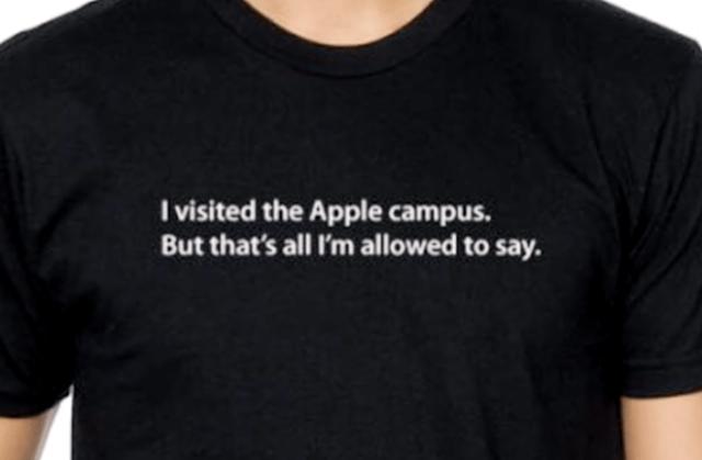 Apple secrecy T-shirt