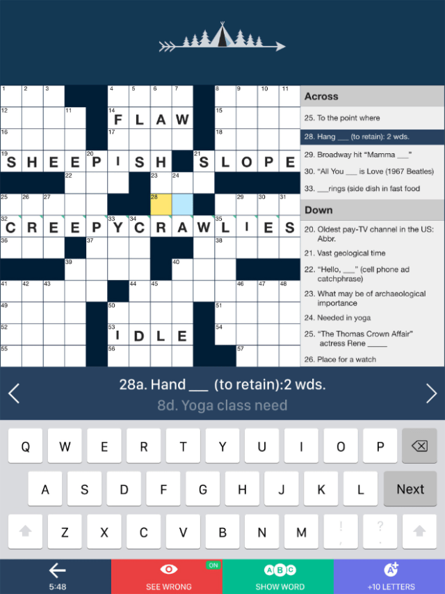 """Access thousands of crossword puzzles of varying sizes on a variety of topics with """"Tiny Crossword"""" from PlaySimple Games Pte Ltd."""