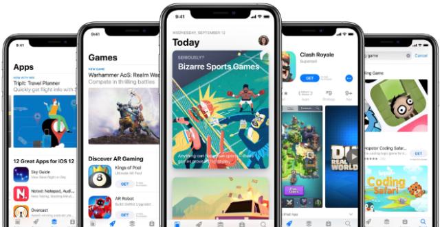 Apple's App Store on iPhone