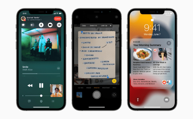 iOS 15 introduces SharePlay in FaceTime, Live Text using on-device intelligence, redesigned Notifications, and more.