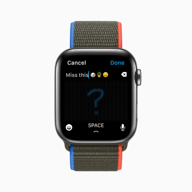 Apple Watch users can now combine the use of Scribble, dictation, and emoji all within the same message.