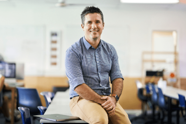Paul Dionysius leads technology education at Siena Catholic College, helping students use creativity and coding to tackle challenges and solve problems.