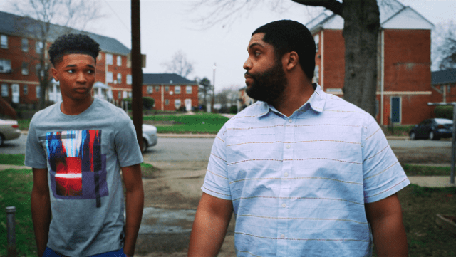 """Isaiah Hill and O'Shea Jackson Jr. in """"Swagger,"""" premiering globally October 29, 2021 on Apple TV+."""