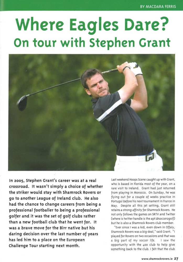 Where Eagles Dare? On tour with Stephen Grant